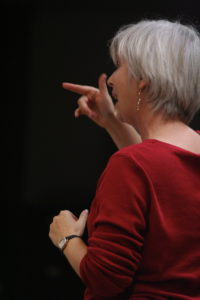 Becky Graber conducting music